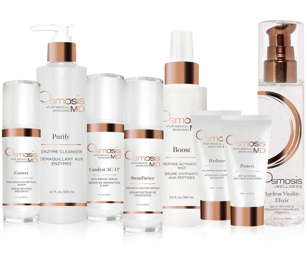 osmosis products at peaches beauty salon kerikeri